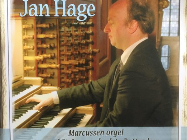 Jan Hage plays on the organ in Grote of St. Laurenskerk in Rotterdam